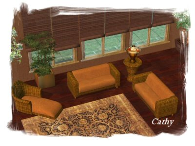 Cathy Rattan And Leather Living Room Set. Part 62